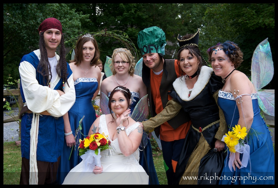 Disney Themed wedding at Bluff Mountain Inn Gatlinburg Wedding Venue