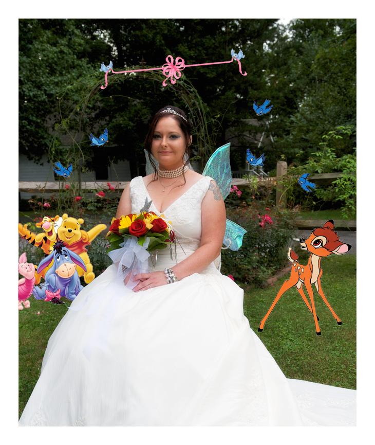 Disney Themed wedding at Bluff Mountain Inn