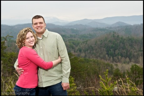 Happy couple in the Smoky Mountains