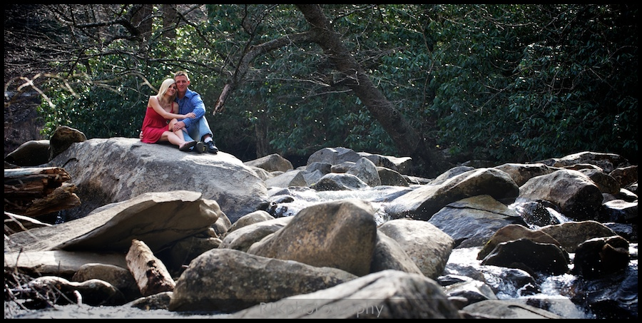 couple on the river