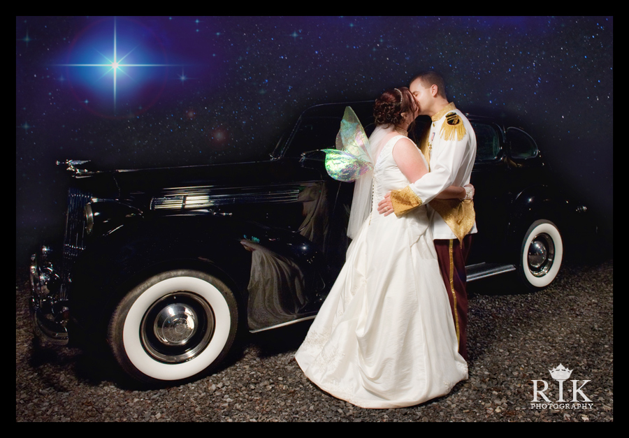prince charming and a ferry princess on a starry night