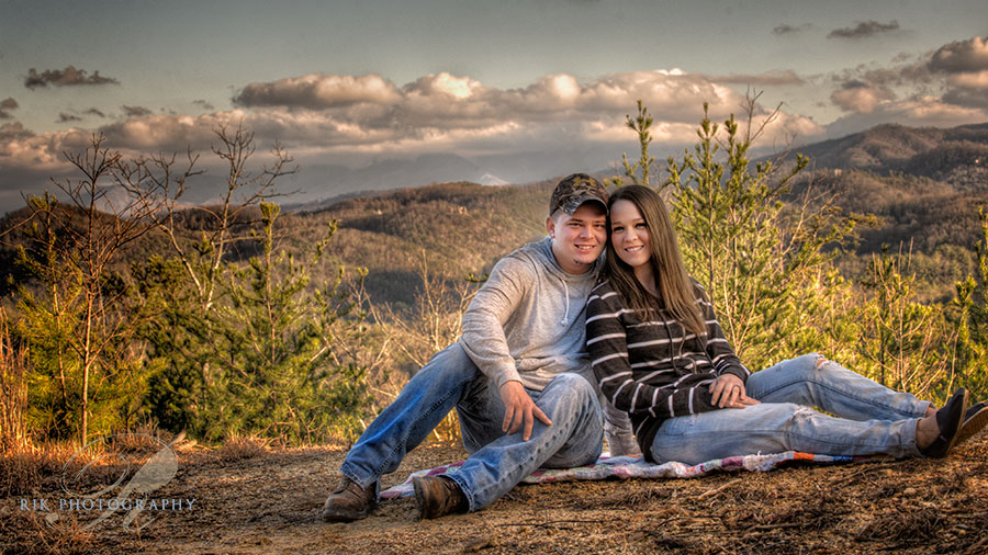 engagement session in the smokies