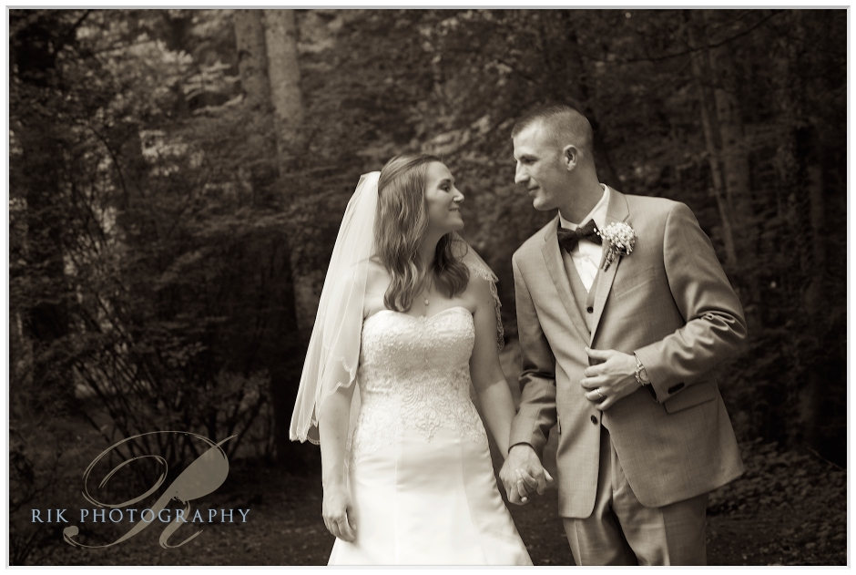 Bride and Groom have a special moment